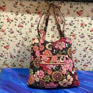 Vera Bradley Chocolate Patterned Shoulder Bag